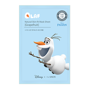 [the SAEM] (Disney Edition) Natural Skin Fit Mask Sheet [Grapefruit]