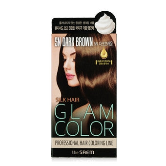 [the SAEM] Silk Hair Glam Color Bubble 5N Dark Brown
