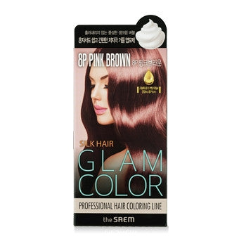 [the SAEM] Silk Hair Glam Color Bubble 8P Pink Brown