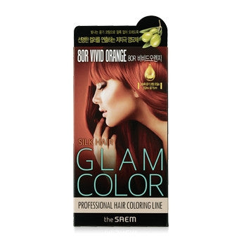 [the SAEM] Silk Hair Glam Color Cream 8OR Vivid Orange