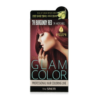 [the SAEM] Silk Hair Glam Color Cream 7R Burgundy Red