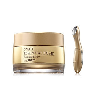 [the SAEM] Snail Essential Ex 24K Gold Eye Cream Set