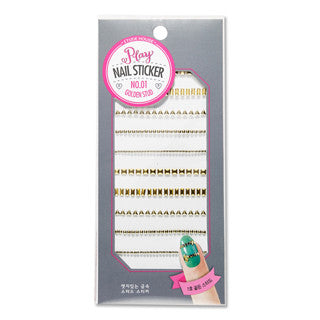 [ETUDE HOUSE] Play Nail Sticker [Golden Stud]