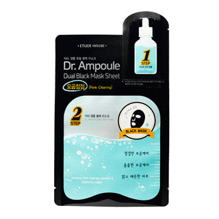 [ETUDE HOUSE] Dr. Ampoule Dual Black Mask Sheet