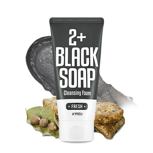 [APIEU] 2+ Cleansing Foam - Black Soap (Fresh)