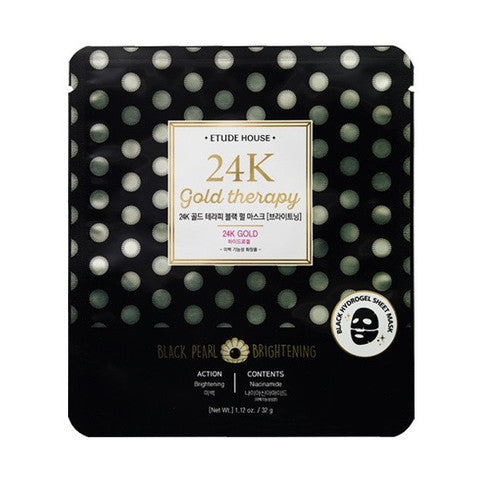 ETUDE HOUSE 24K Gold Therapy Black Pearl Mask Brightening