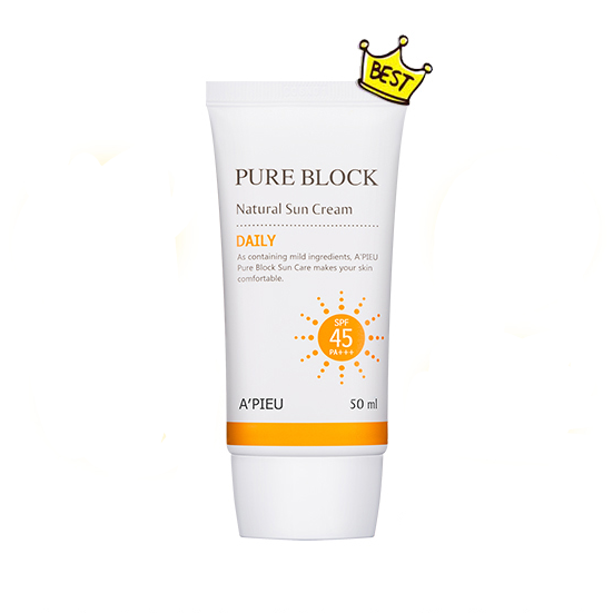 APIEU Pure Block Natural Sun Cream Daily Spf45 PA+++