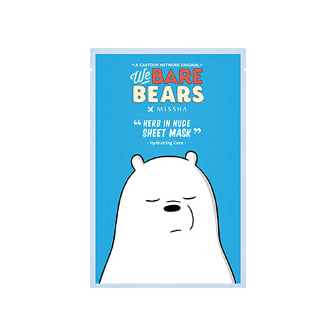 [MISSHA] Herb in Nude Sheet Mask - Hydrating (We Bare Bears)