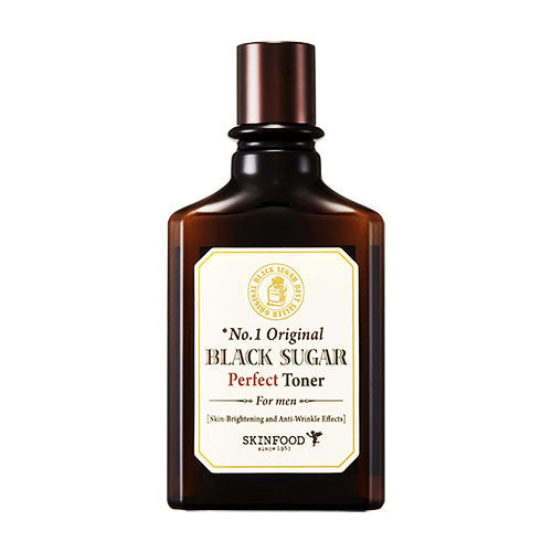 [SKINFOOD] Black Sugar Perfect Toner For Men (Skin-Brightening and Anti-Wrinkle Effects)