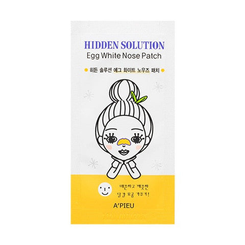 APIEU Hidden Solution Egg White Nose Patch