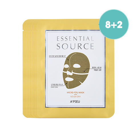 [Apieu] Essential Source_Micro Foil Mask (Never Dry)