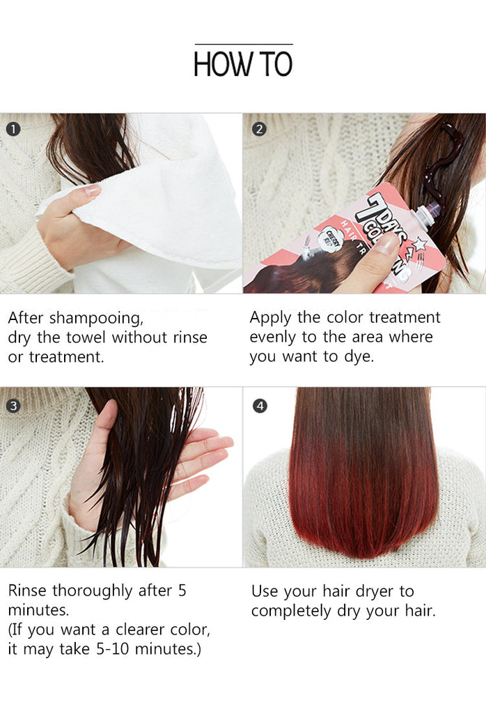 Missha 7days Coloring Hair Treatment Pink Brown Vuty Design