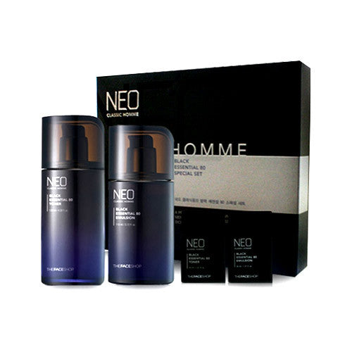 [THE FACE SHOP] Neo Classic Homme Black Essential 80 Set
