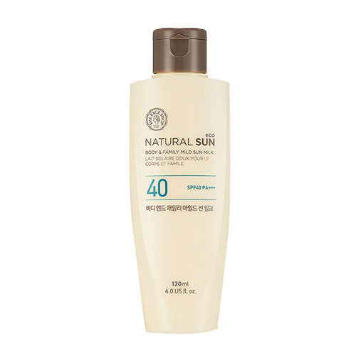 [THE FACE SHOP] Natural Sun Eco Body&Family Mild Sun Milk SPF40 PA +++