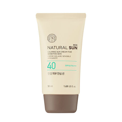 [THE FACE SHOP] Natural Sun Eco Calming Sun Cream For Sensitive Skin SPF40 PA +++