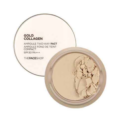 [THE FACE SHOP] Gold Collagen Ample Two Way Pact SPF30 PA+++ (Refill)