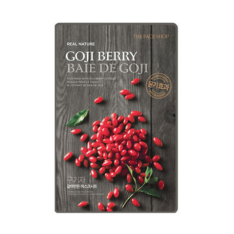[THE FACE SHOP] Real Nature Goji Berry Sheet Mask