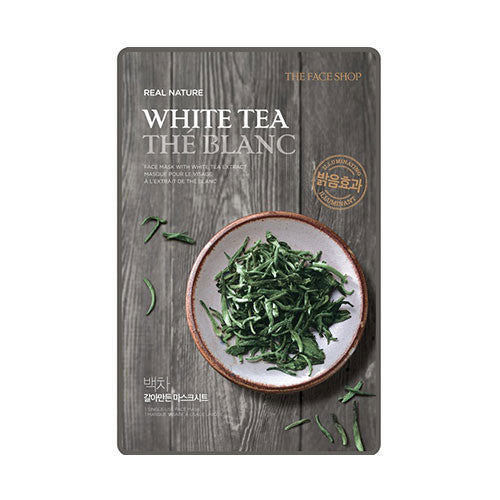 [THE FACE SHOP] Real Nature White Tea Sheet Mask