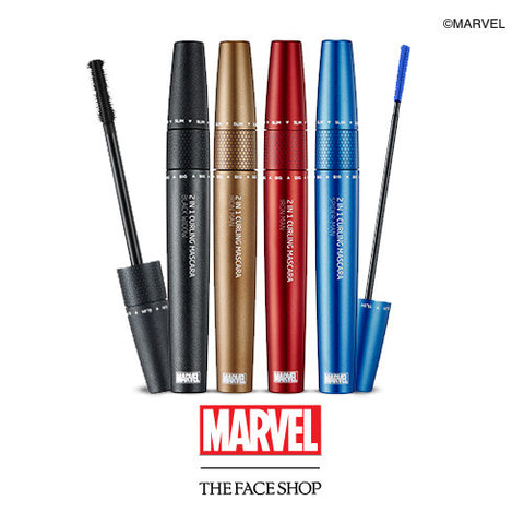 [THE FACE SHOP] 2 in 1 Curling Mascara (Marvel X The Face Shop)