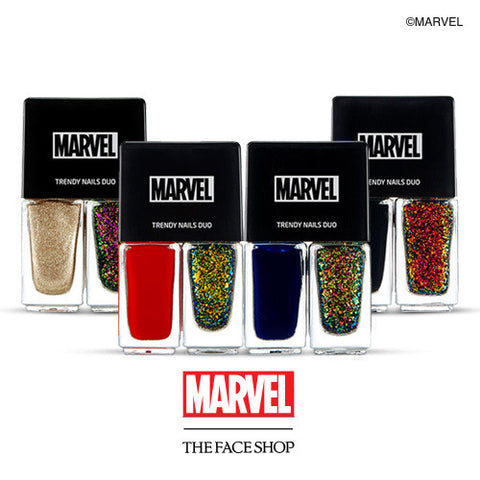 [THE FACE SHOP] Trendy Nails Nail Duo (Marvel X The Face Shop)