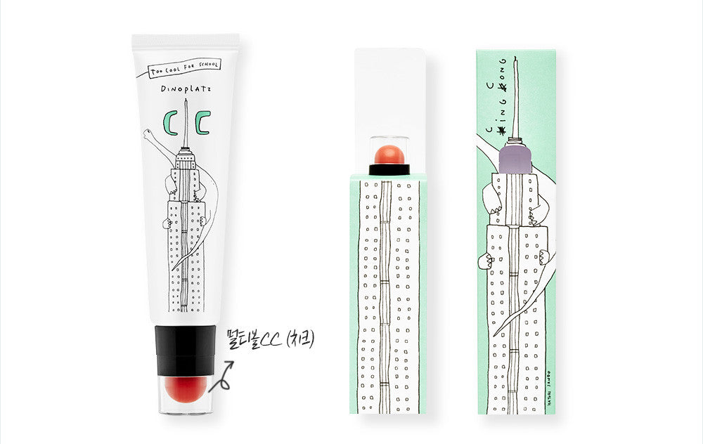 [too cool for school]  Dinoplatz Cinema City Multi Ball CC Cream (CC 30ml + Color 2.8g)