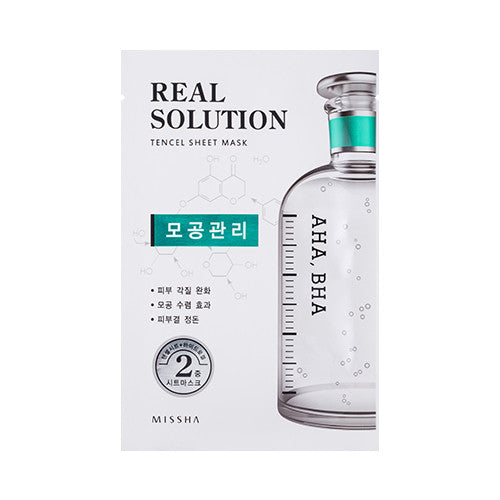 [MISSHA] Real Solution Tencel Sheet Mask [Pore]