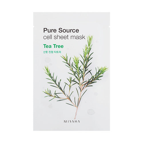 [MISSHA] Pure Source Cell Sheet Mask - Tea Tree