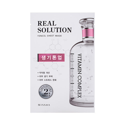 [MISSHA] Real Solution Tencel Sheet Mask [Vitamin Complex]