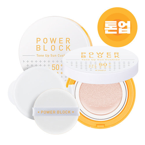 [APIEU] Power Block Tone Up Sun Cushion SPF50+/PA++++