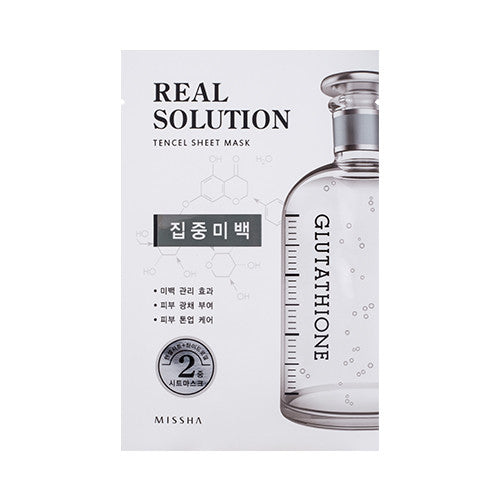 [MISSHA] Real Solution Tencel Sheet Mask [Glutathione]