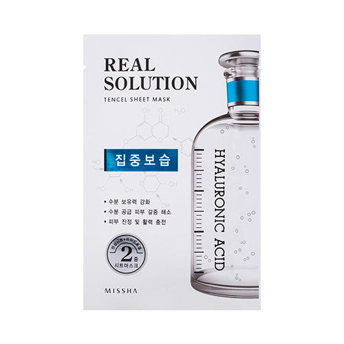 [MISSHA] Real Solution Tencel Sheet Mask [Hyaluronic Acid]