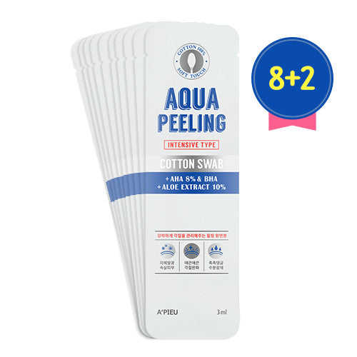 [APIEU] Aqua Peeling Cotton Swab(intensive)_Set(8+2)