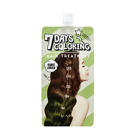 [MISSHA] 7Days Coloring Hair Treatment [Khaki Green]