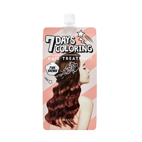 [MISSHA] 7Days Coloring Hair Treatment [Pink Brown]