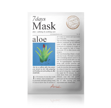 [ARIUL] 7DAYS MASK ALOE