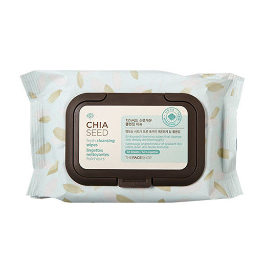 THE FACE SHOP Chia Seed Cleansing Wipes (50EA)