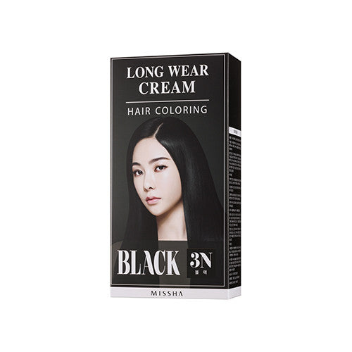[MISSHA] Long Weat Cream Hair Coloring [Black]