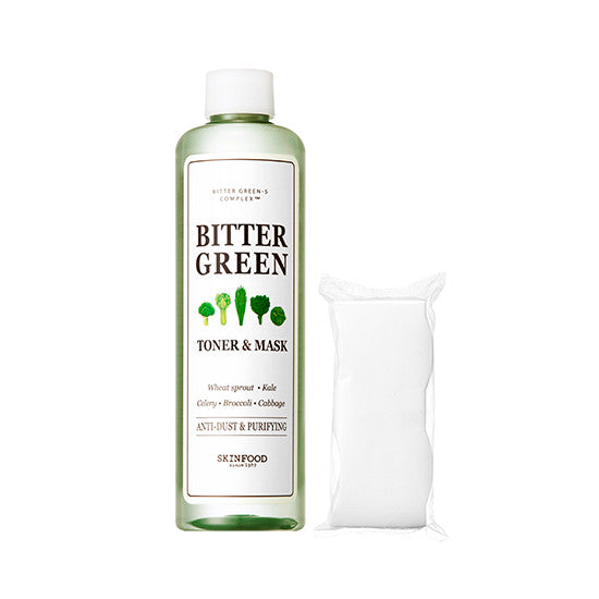 [SKINFOOD] Bitter Green Toner & Mask