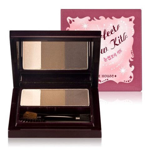 ETUDE HOUSE Perfect Brow Kit 3-Color+3-Brush