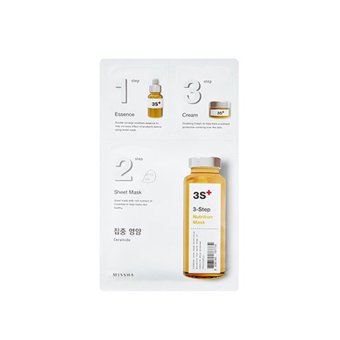 [MISSHA] 3-Step Sheet Mask [Nutrition]