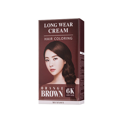 [MISSHA] Long Weat Cream Hair Coloring [Orange Brown]