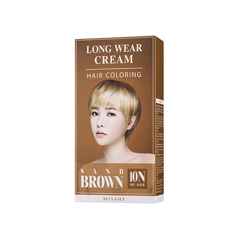 [MISSHA] Long Weat Cream Hair Coloring [Sand Brown]