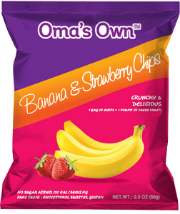 Banana & Strawberry Chips (12 Pack)