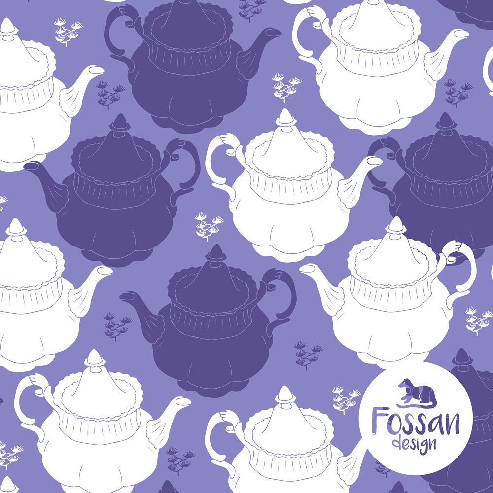 Jersey Tea Pot Purple