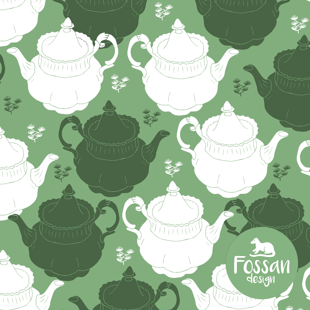 Jersey Tea Pot Green