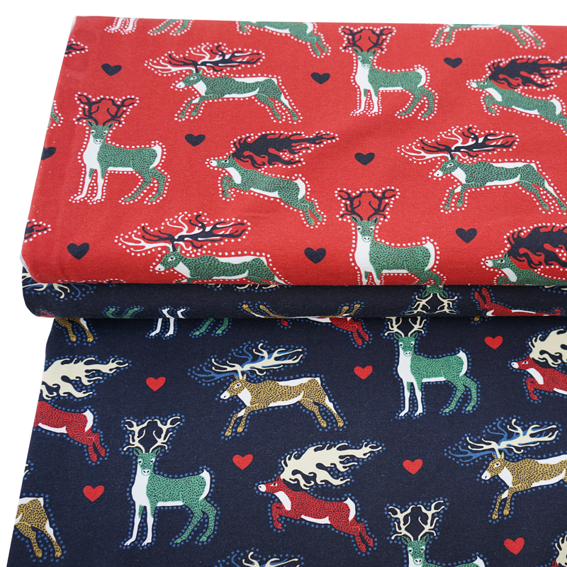 Jersey Christmas Deer Red