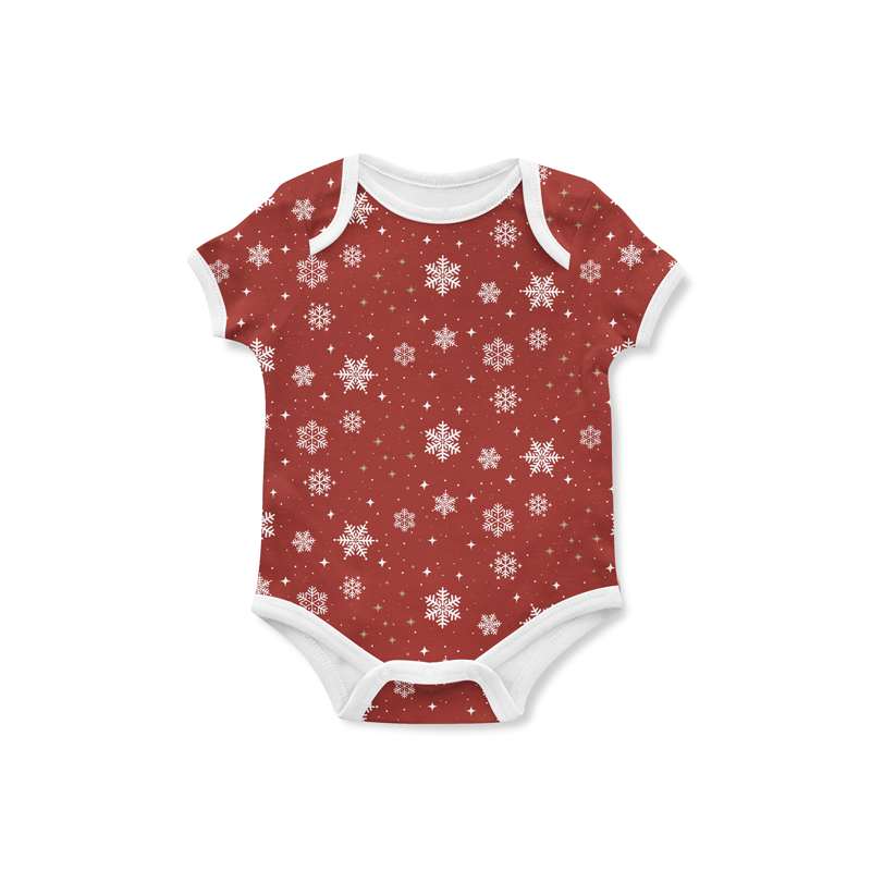 Jersey Snowflakes Red