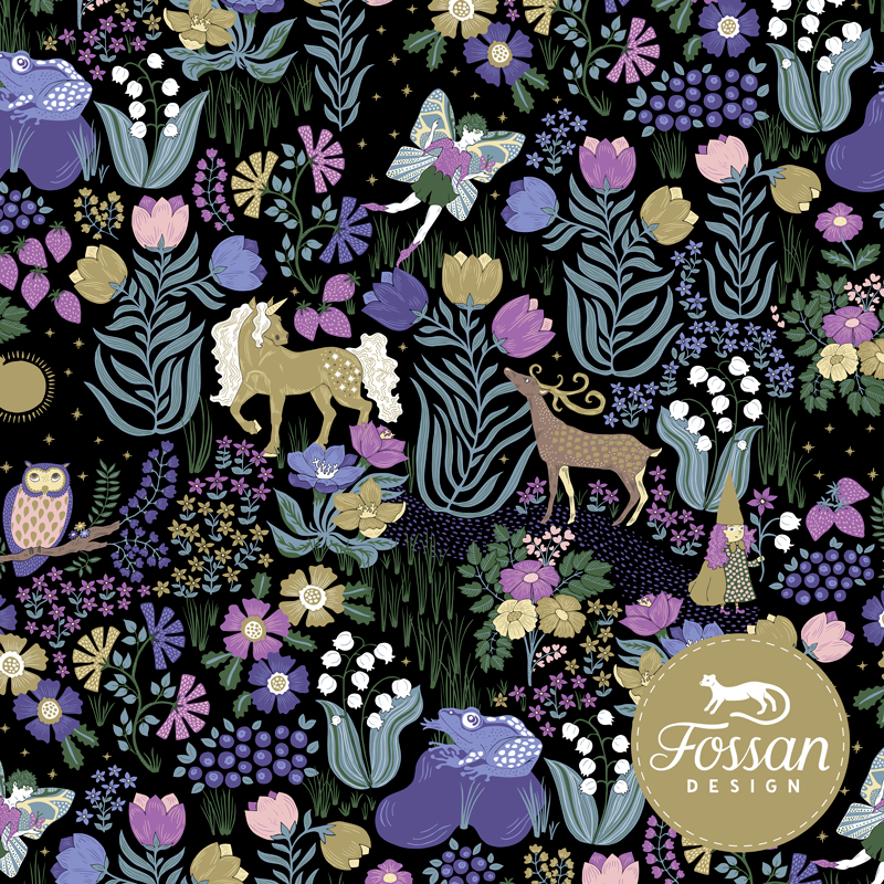 Jersey Magic Garden Purple