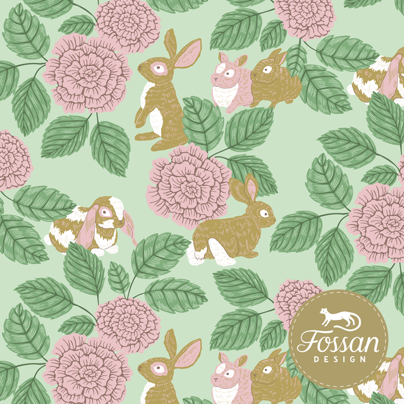 Jersey Rabbit Rose Green