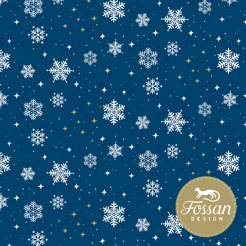 Jersey Snowflakes Blue